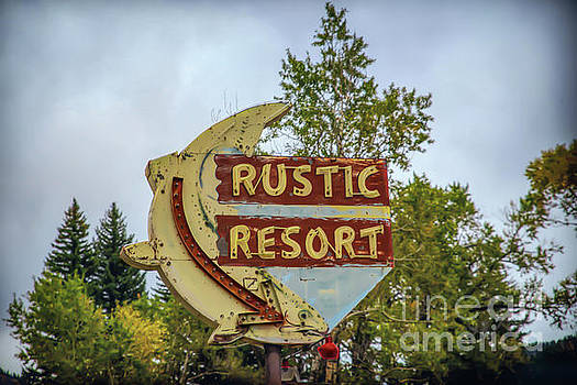 Rustic Resort Sign by Lynn Sprowl