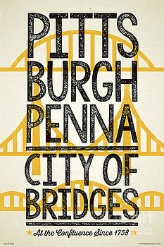 Rustic Style Pittsburgh Poster by Jim Zahniser