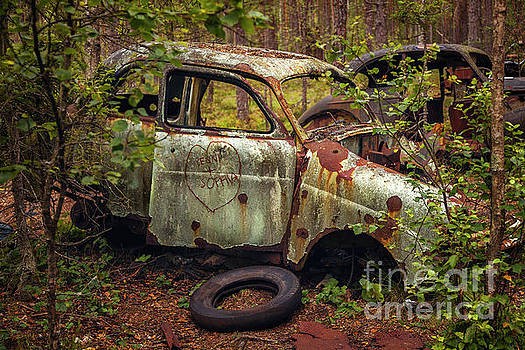 Rusty abandoned car by Sophie McAulay