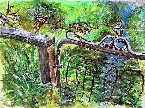Rusty Backyard Gate by Lynn Takacs