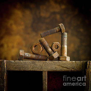 BERNARD JAUBERT - Rusty bolt and nuts