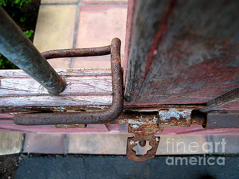 Rusty Gate Latch by James B Toy