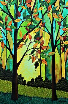 Rusty Leaves by Peggy Davis