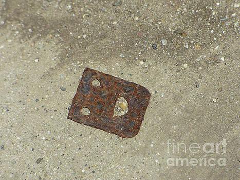 Rusty Metal Hinge Smiley by Leara Nicole Morris-Clark