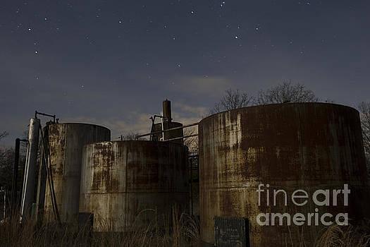 Keith Kapple - Rusty Oil field tanks