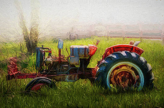 Debra and Dave Vanderlaan - Rusty Old Red Oil Painting
