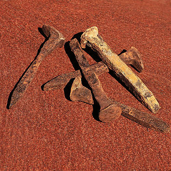 Art Block Collections - Rusty Railroad Spikes