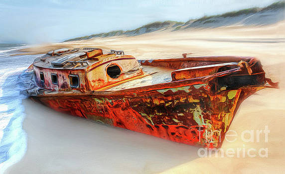 Dan Carmichael - Rusty Shipwreck on the Outer Banks of North Carolina AP
