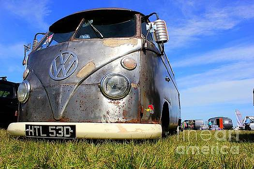 Rusty VW Camper by Vicki Spindler