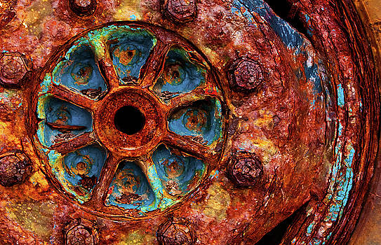 Rusty Wheel by Karmen Chow