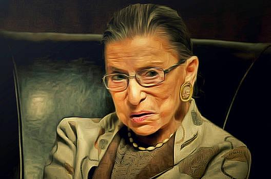 Ruth Bader Ginsburg by Janice MacLellan