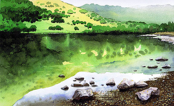 Rydal Water Reflections by Paul Dene Marlor