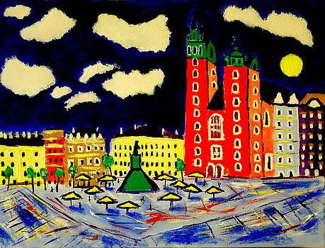Rynek Glowny  Krakow by Ted Hebbler