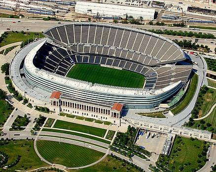Bill Lang - S-004 Soldier Field Close Up Chicago Illinois