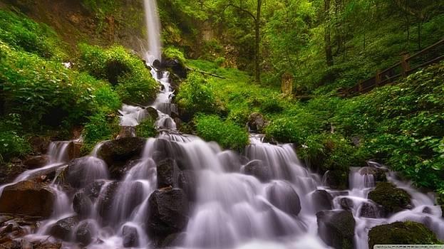 S BasavaRaj Ireland - Awesome Waterfall by S BasavaRaj Ireland
