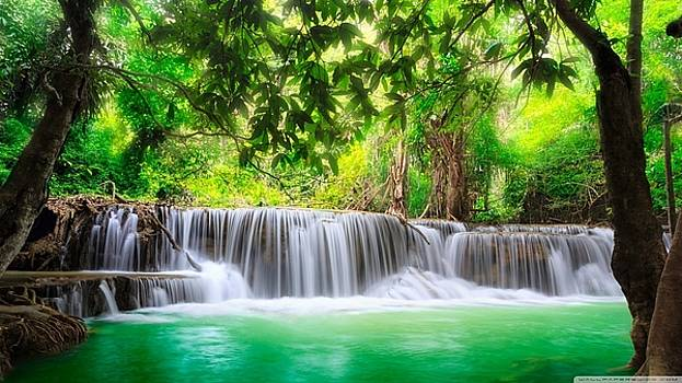 S BasavaRaj Ireland - Beautiful Waterfall by S BasavaRaj Ireland