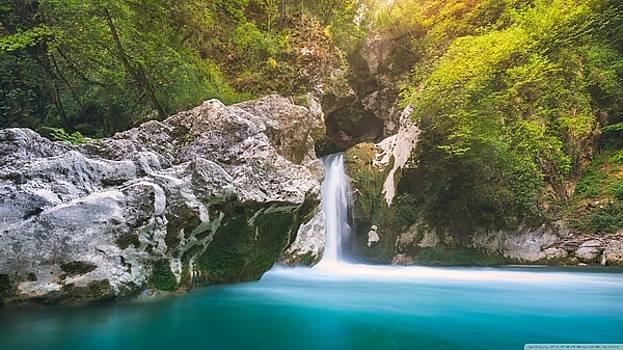 S BasavaRaj Ireland - Superb Waterfall by S BasavaRaj Ireland