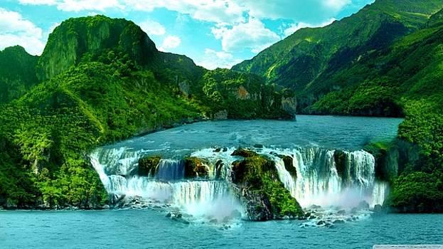 S BasavaRaj Ireland - Waterfall by S BasavaRaj Ireland