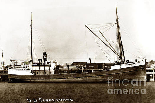 California Views Mr Pat Hathaway Archives - S. S. Capastrano Steam Ship San Pedro Circa 1908