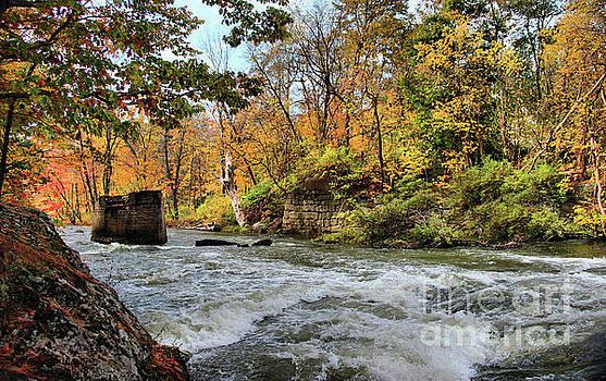 Sandra Huston - Sabattus River in Autumn