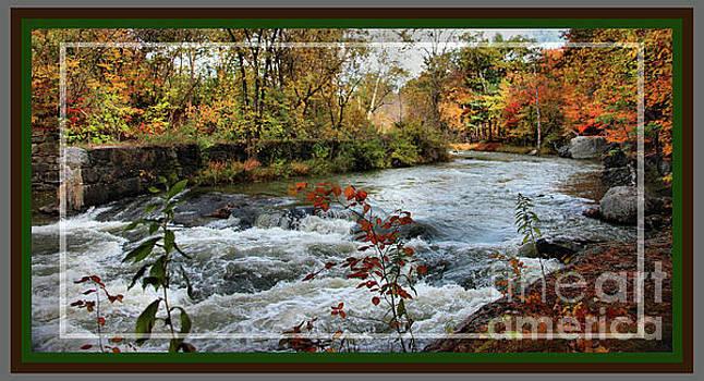 Sandra Huston - Sabattus River in Fall, Framed