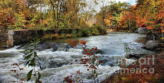 Sandra Huston - Sabattus River in Fall Panorama