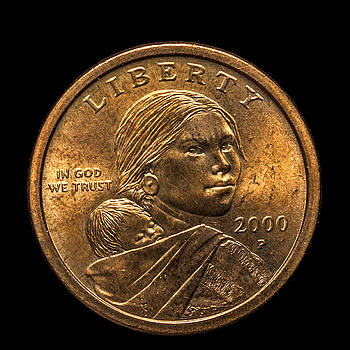 Sacagawea Dollar by Lonnie Paulson