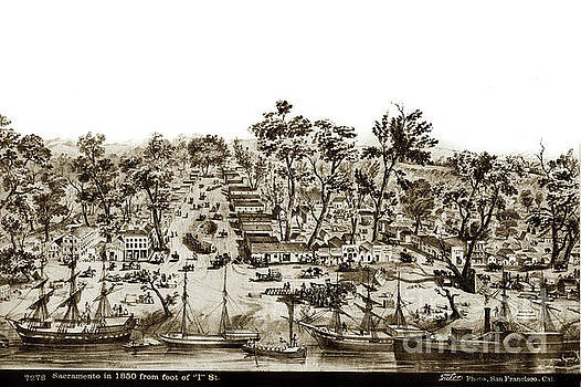 California Views Mr Pat Hathaway Archives - Sacramento in 1850 from the foot of I street