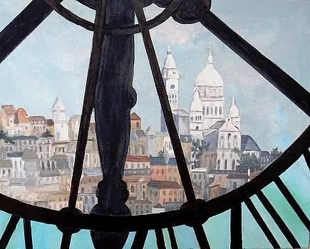 Sacre Coeur from Musee D'Orsay by Diane Arlitt