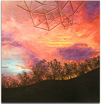 Sacred Geometry on Sunset by Vincent Fink