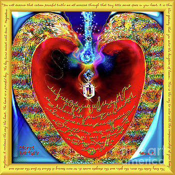 Sacred HeartGate with Gold Frame and Message by Saleena Ki