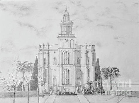 Sacred Steps - St. George Temple by Nila Jane Autry