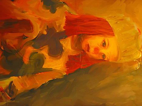 Sad Baby Clown by Barbara Kelley