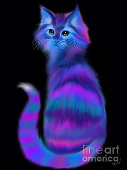 Nick Gustafson - Sad Eyed Colorful Cat
