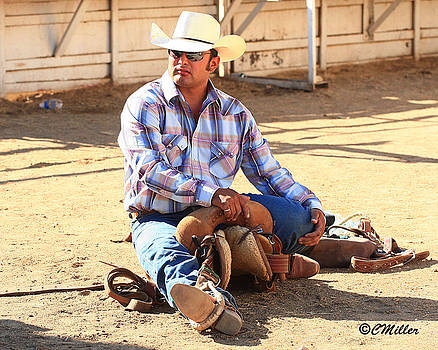 Saddle Bronc Rider... by Carol Miller