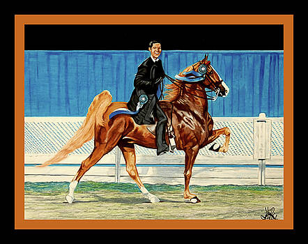 Saddlebred Bustin Out with David Blevins up by Cheryl Poland