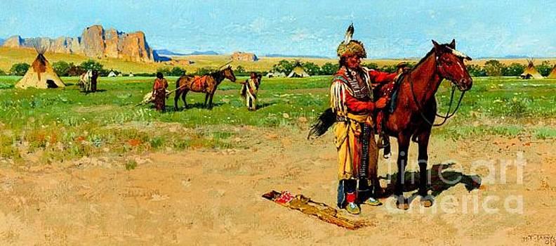 Peter Gumaer Ogden - Saddling Up 1865