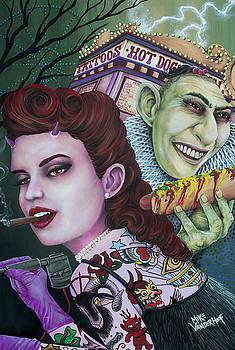 Sadie the Tattooed Lady and Pedo the Pinhead by Michael Vanderhoof