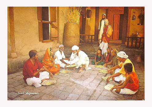 Saibaba Serves Food To Village People by Sunil Shegaonkar
