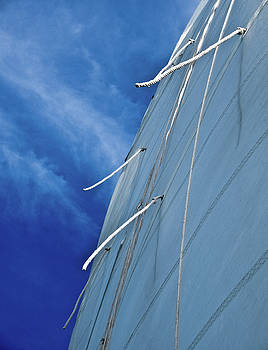 Sail and Blue Clouds Portrait by Tony Grider
