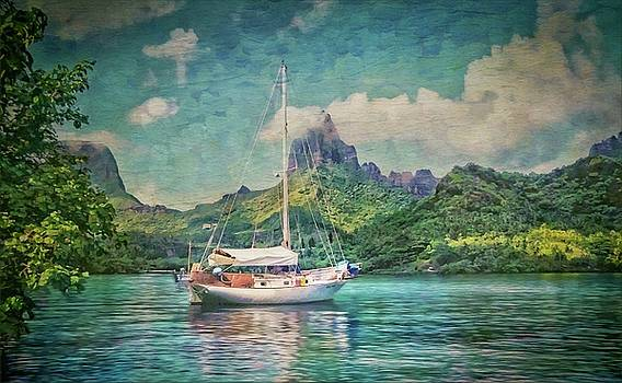 Sail Boat in the South Pacific by Cheryl Ramalho