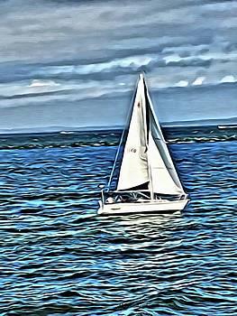 Sail Boat by Marian Palucci-Lonzetta