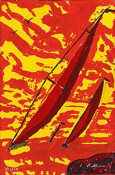 Sail Boats by Dean Kellner