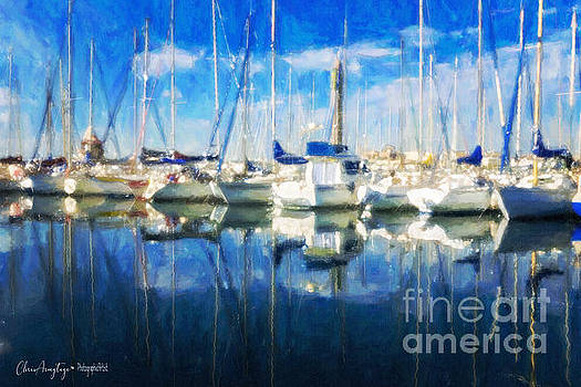 Sail Boats in Port by Chris Armytage