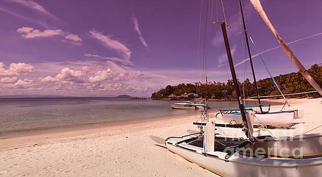 Sophie McAulay - Sail boats on tropical beach
