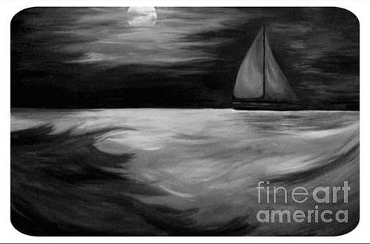 Sail to the moon, an endless journey by Bonnie Cushman
