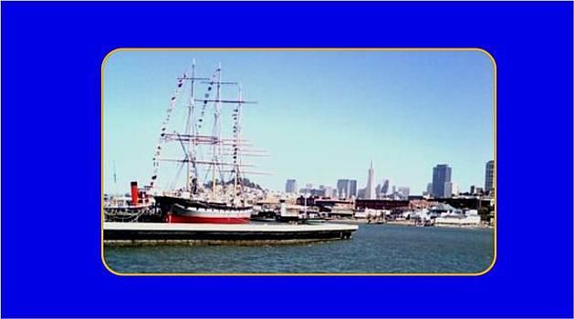 Sailbboat by the San Francisco Skyline by Anthony Benjamin