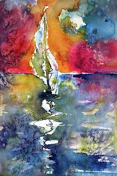 Sailboat alone by Kovacs Anna Brigitta