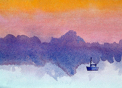 Sailboat at Dawn by Paul Thompson