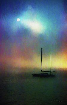 Sailboat at Sunset by John A Rodriguez